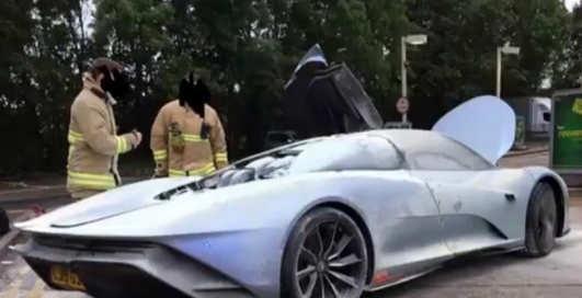 Деньги на ветер: супердорогой McLaren Speedtail сгорел прямо во время тестов