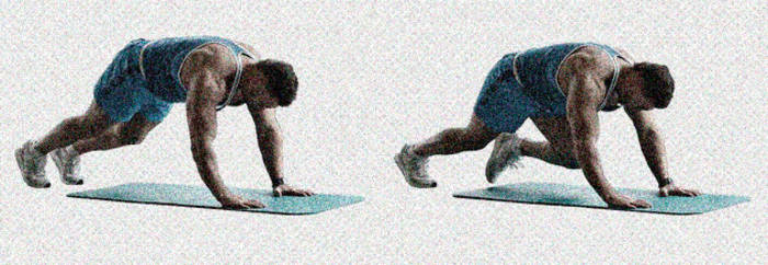 Бег в планке укрепляет поперечные мышцы живота