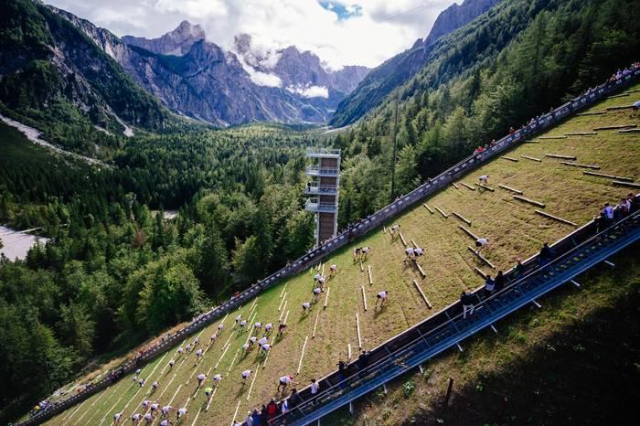 Планица, Словения. Кадр с забега Red Bull 400