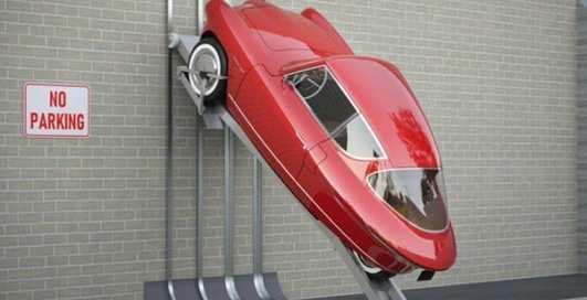 Авто Человека-Паука: эстонский трехколесный электрокар можно парковать на стене
