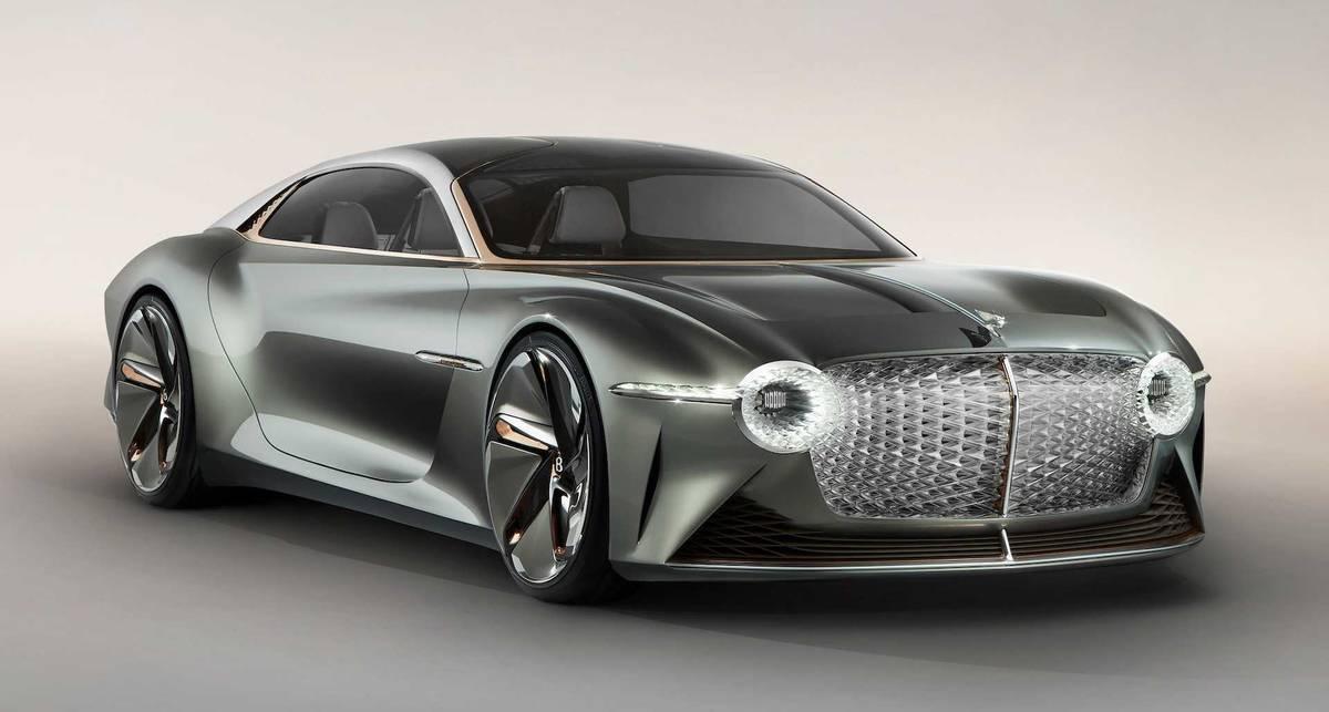 Автомобиль будущего: Bentley представил футуристичный кабриолет