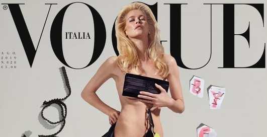 Идеалы 90-х: Клаудия Шиффер и Стефани Сеймур обнажились для обложки Vogue