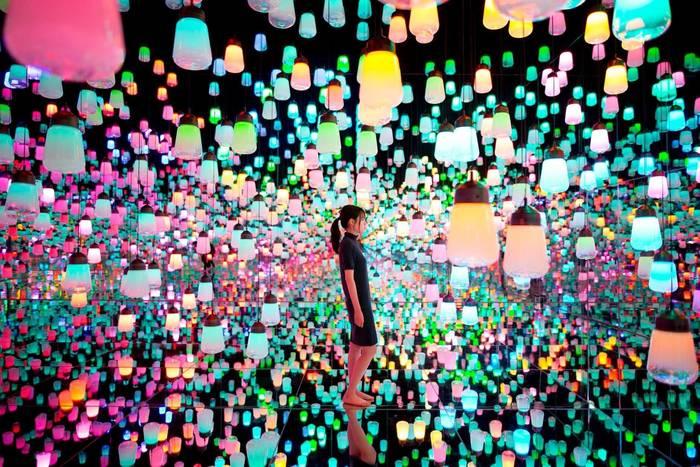 Музей цифрового искусства Токио, Япония.