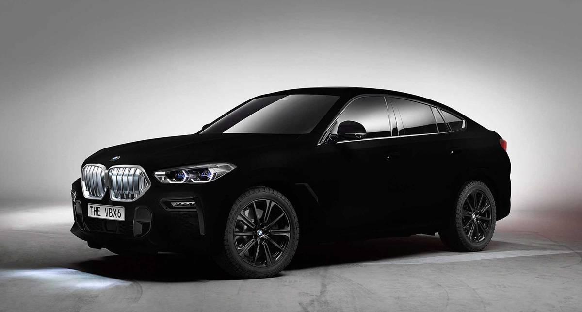 Чернее черного: BMW покрыл автомобиль краской, поглощающей 99% света