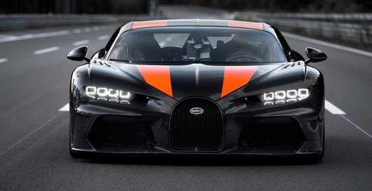 Рекорд побит: Bugatti Chiron разогнался почти до 500 км/ч