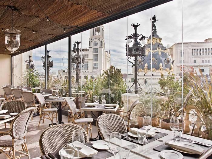 The Principal Madrid — элитный бар на крыше пятизвездочного отеля на Гран-Виа