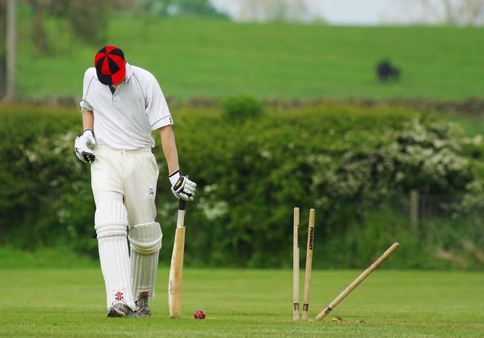 Крикет — это зарядить мячом в калитку противника