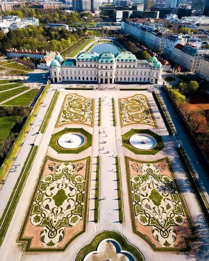 Парк дворца Бельведер, Вена