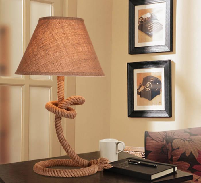 Канат — не только для перетягивания: из него своими руками можно сделать настольную лампу!