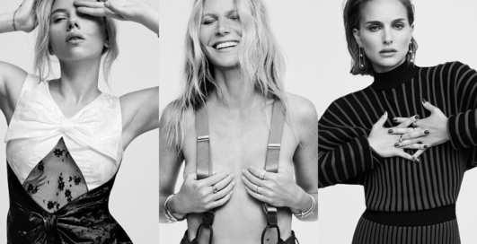 Сразу 6 голливудских красоток: американский Elle снял для обложек Скарлетт Йоханссон, Николь Кидман и других актрис