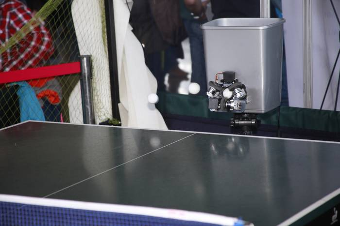 TenniRobo — миниатюрная пушка-тренер по настольному теннису