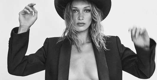 Сексуальная ковбойша: Белла Хадид в фотосессии для австралийского Vogue