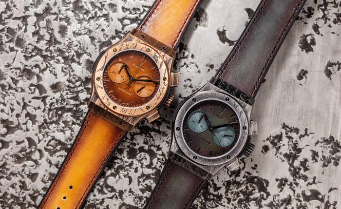 Classic Fusion Chronograph Berluti — наручные часы с вечными ремешком и механизмом