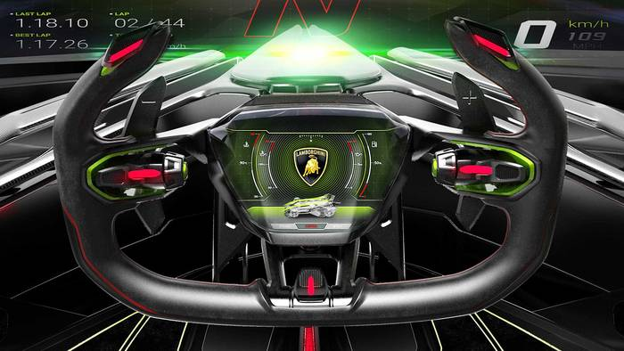 "Вот так выглядит ""штурвал"" Lamborghini V12 Vision Gran Turismo"