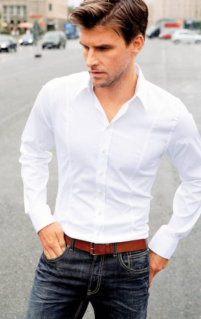 Белая рубашка подойдет под любой образ