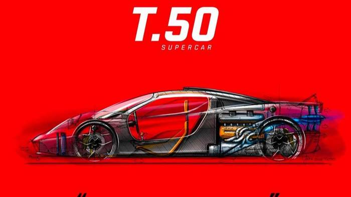 Еще один чертеж Gordon Murray Automotive T.50