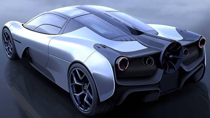 А так будет выглядеть революционный суперкар Т.50 с вентилятором