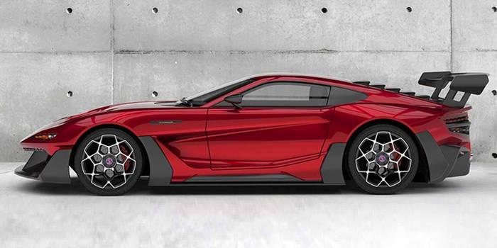 В красном цвете автомобиль смотрится стремительно и необычно