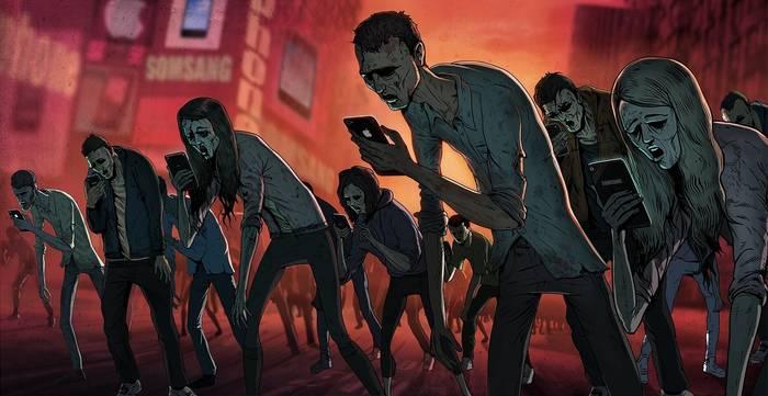 Многие из нас похожи на зомби - с телефонами в руках