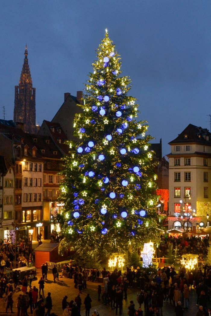 Пышная елочка в Страсбурге, Франция