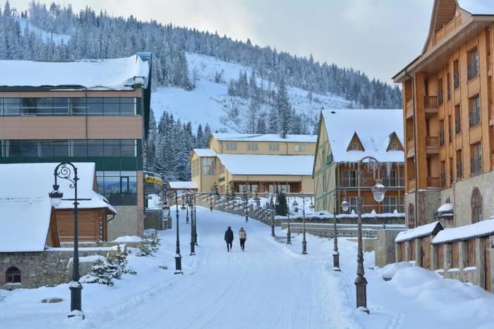 Плай напоминает горнолыжные курорты Швейцарии