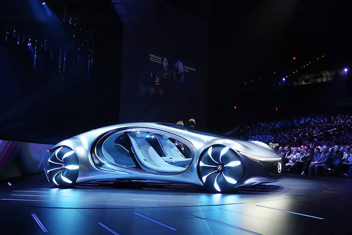 """Вдохновленный """"Аватаром"""" автомобиль Mercedes-Benz Vision AVTR"""