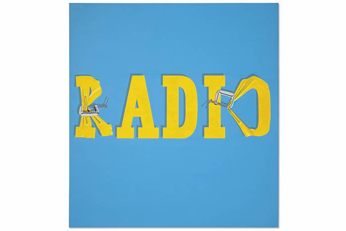 Эд Рушей. композиция «Разрушая слово «радио» #2», $52,5 млн.
