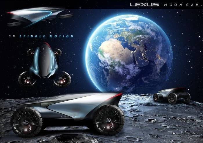 Lexus Lunar Cruiser - самый привычный из лунных авто