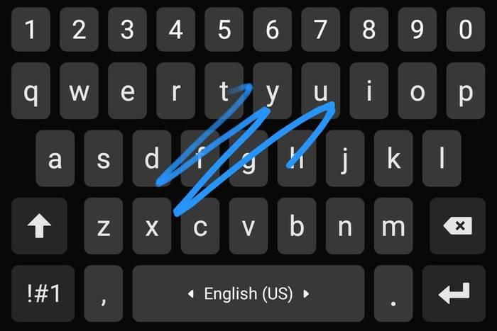 Непрерывный набор — это печатать, не отрывая пальца от клавиатуры