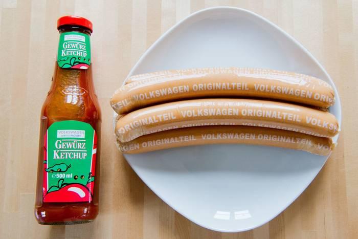 Volkswagen. Специализируются еще и на продуктах питания вроде сосисок и кетчупа