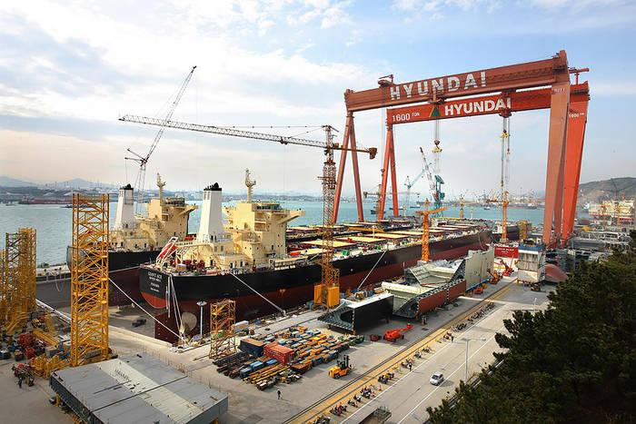 Hyundai прославился в судостроении