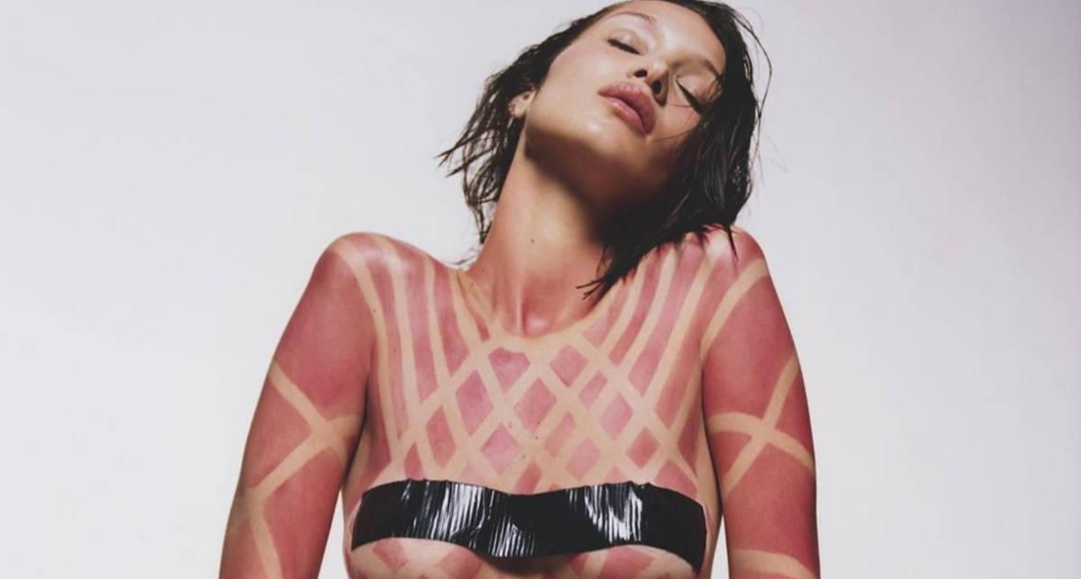 Сюрреализм и нагота: Белла Хадид снялась топлес для журнала LOVE