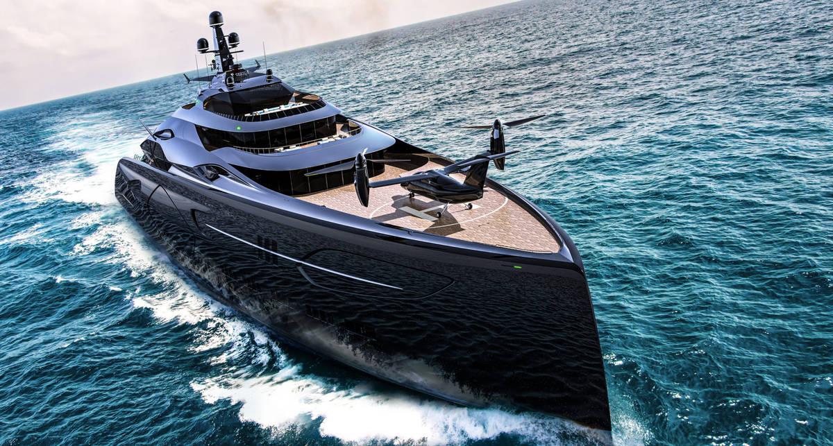 Фрегат для миллиардера: супер-яхта Project Centauro с вертолетной площадкой и личной подлодкой