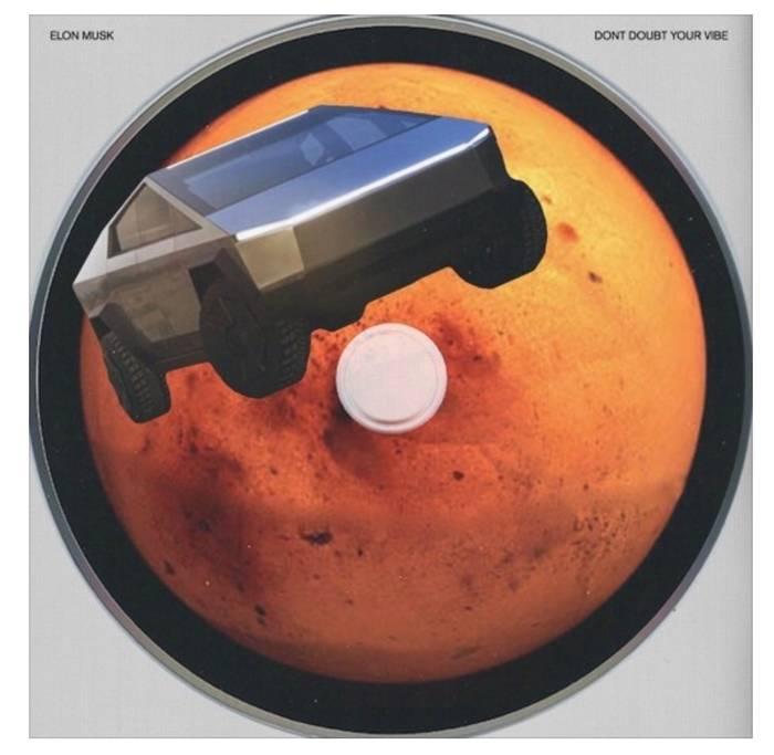Обложка сингла не обошлась без Cybertruck