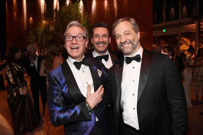 Пол Фиг, Джон Хэмм и Джадд Апатоу смотрелись как старые закадычные... друзья