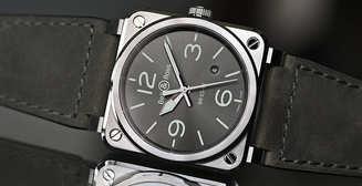 Винтажная элегантность: часы авиатора BR03-92 Grey от Bell & Ross
