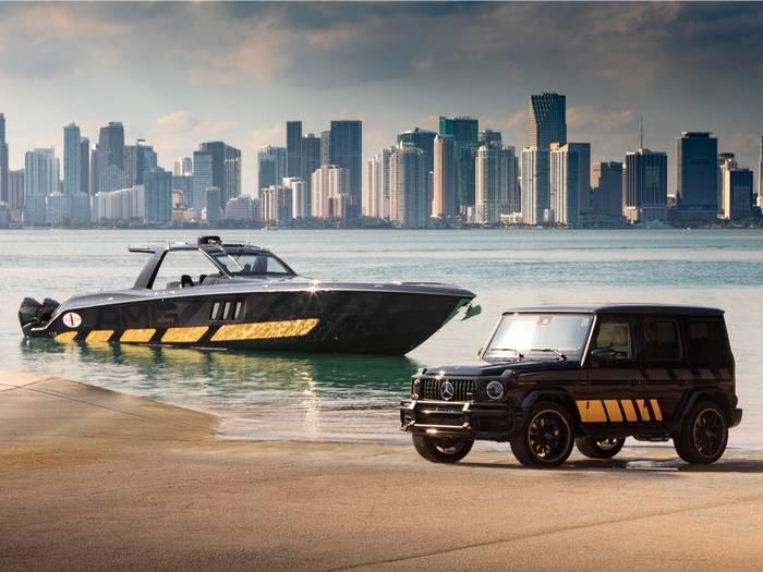И авто, и яхта представлены на выставке в Майами