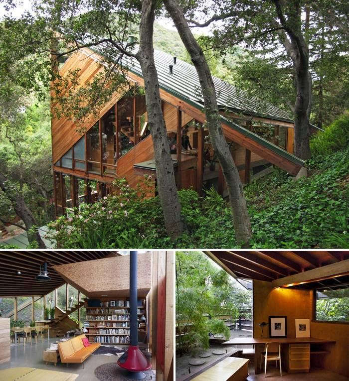 Асимметричный дом в США