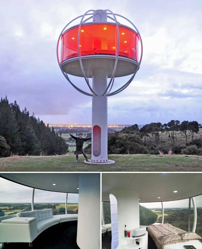 Дом с обзорностью 360 градусов в Новой Зеландии