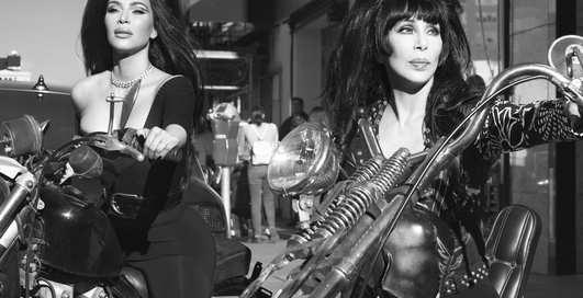 Сексуальные байкерши: Ким Кардашьян, Наоми Кэмпбелл и Шер в фотосессии для CR Fashion Book