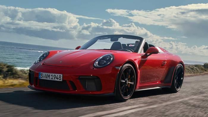 Porsche 911 Speedster. Впервые представлен в 2019 на автосалоне в Нью-Йорке