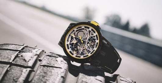 Вдохновлённые Lamborghini: часы-скелетоны Excalibur для настоящих фанатов скорости