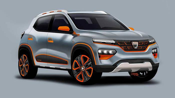 Dacia Spring Electric Concept - тот же Renault City K-ZE с некоторыми модификациями