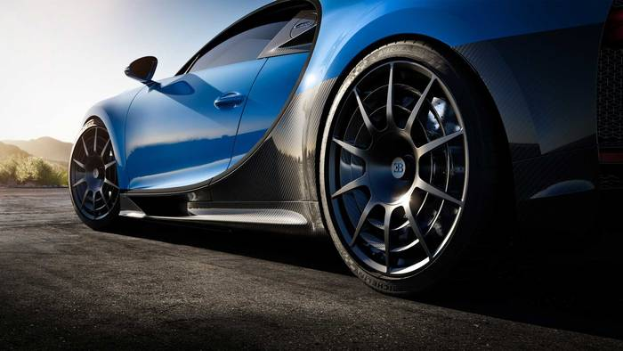 Колеса Bugatti Chiron Pur Sport 2020: улучшена вентиляция тормозных дисков
