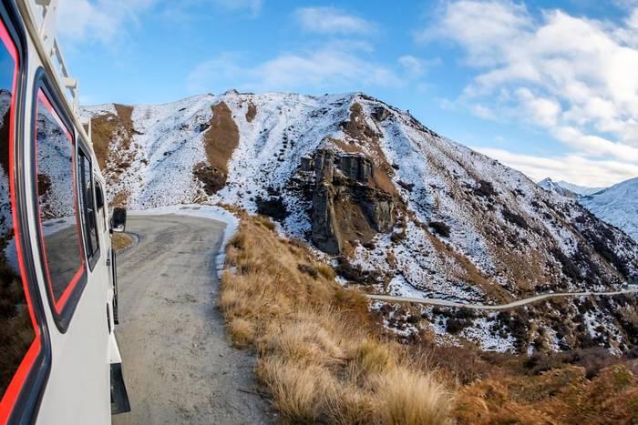 Дорога в Скиперс-Каньйоне, Новая Зеландия. Выезжая на нее, лишаешься страховки