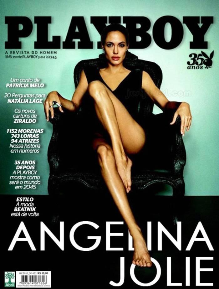 Анджелина Джоли тоже снималась для обложки Playboy