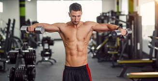 Как накачать руки и плечи с помощью гантелей и стула: 6 мужских упражнений