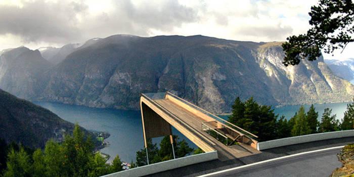 Aurland Lookout, Норвегия. Виды, на которые можно смотреть вечно
