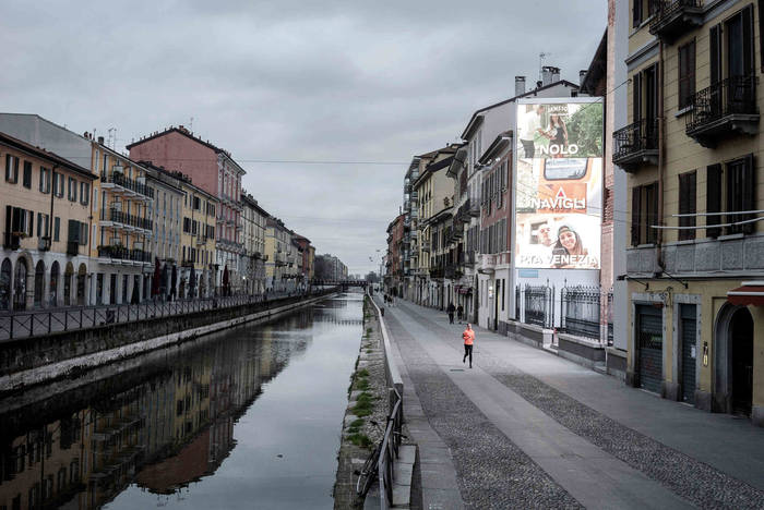 Милан. Навильи, где миланцы часто собираются в конце дня