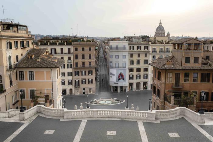 Рим. Вид с Испанской лестницы
